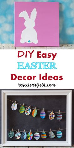 DIY Easy Easter Decor Ideas   http://www.roseclearfield.com