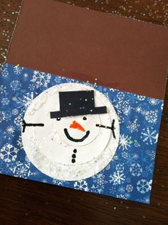 Crafts Cooking Curriculum: Snowman Cards