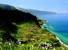 Madeira: A place that gives a new meaning to the phrase: Man is too short beneath Mother Nature. Life is beautiful, so it is Madeira. Places Around The World, Oh The Places You'll Go, Around The Worlds, Azores, Beautiful Islands, Beautiful Places, Property Guide, Portugal Holidays, Funchal