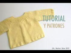 DIY Cómo tejer jersey para bebés (patrones gratis) - YouTube
