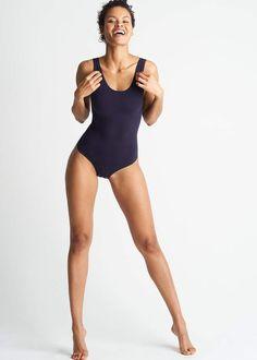 Yummie Ruby Cotton Shaping Thong Back Bodysuit