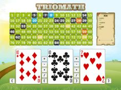 The math game TrioMath lets you challenge your friends in mathematics!   Calculate correctly and think strategically.  Using the four operations you fight to conquer the game pieces and collect points.  Keep in mind that it's not always the easiest solution that's the best one to choose in order to win.  Being close to previously conquered pieces nets you more points. Don't forget the bonus pieces!  The goal is to collect as many points as possible. Free Math Apps, Better One, Game Pieces, Math Games, Keep In Mind, Mathematics, Goal, Forget, Challenges