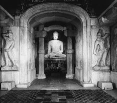Korean Buddhist Sculpture (5th–9th century) | Thematic Essay | Heilbrunn Timeline of Art History | The Metropolitan Museum of Art; Seated Buddha, Unified Silla dynasty, second-half of the 8th century  Granite, H. 127 in. (326 cm)  Sokkuram Cave-Temple, Gyongju, South Gyongsang Province  National Treasure no. 24