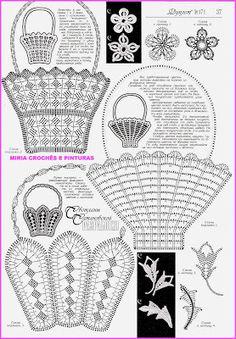 MIRIA crochets y pinturas: ganchillo para las lámparas - CESTAS Y FLORES RAMO