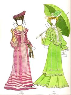 Great Fashions of the Belle Époque: Doll 1  (5 of 16) by Tom Tierney, Dover Publications  | Gabi's Paper Dolls