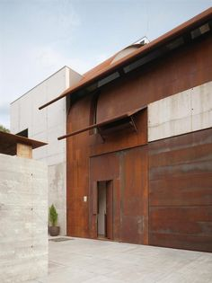 Studio Sitges, Spain  Cor-Ten steel & nude concrete.