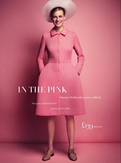in the pink: paulina heiler by dima hohlov for uk harper's bazaar august 2013 #fashion #photography