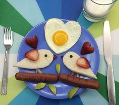 französisches ideen frühstück verliebte vögel