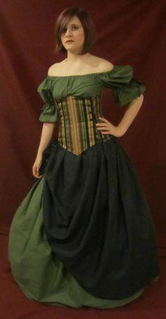 $219.99 Admiration Under-bust Corset Set - renaissance clothing, medieval, costume