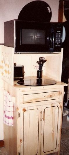 Microwave Stand Designs : Microwave stand with storage pinterest