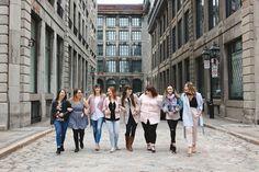 Fashion blogger urban lifestyle session. Women urban headshots. Collaboration photo avec le blog de mode lifstyle Flo&Confettis dans le Vieux-Montréal  Lisa-Marie Savard Photographie  Montréal, Québec  www.lisamariesavard.com
