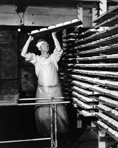 Our aging room in the early 1900s.