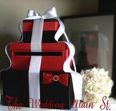 black white red bridal card box - Google Search