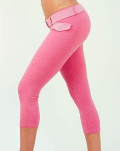 Amazing Butt sculpting Capri with the cutest little fake pocket in the front, comes with matching wide belt.  pink workout wear, capri pants, butt lifting http://mowaafitnesswear.com/workout-clothing/achromaticlittlefakepocketcapri-p-521.html