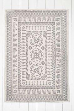 """Grauer Teppich """"Euphrates"""", 5 x 7"""