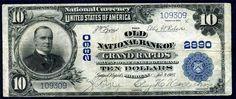 Old National Bank of Grand Rapids ten dollar bill - 1902