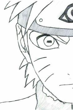 Naruto Drawings Easy, Naruto Sketch Drawing, Art Drawings Sketches Simple, Anime Sketch, Easy Drawings, Naruto Art, Anime Naruto, Chibi Naruto, Kurama Naruto
