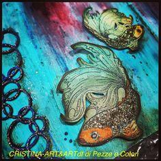 On line il mio tutorial per Art &Art www.artandartdt.blogspot.it#rossopapavero#mixmedia#artjournal#fish#sea#artandartdt#artandart#salottocreativo#giugno#estate#summer#decoart#13arts#rainbowduo#