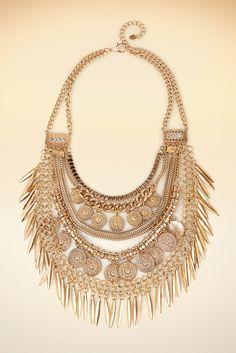 Statement gold necklace #BostonProper #Jewelry #SS15