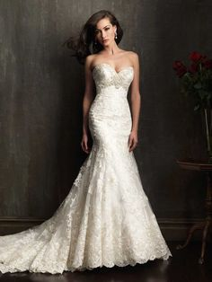 Allure Bridals Wedding Dress Wedding Dresses Mermaid Lace