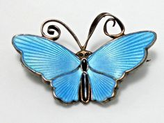 NORWAY D-A Sterling Silver Enamel Butterfly Pin Brooch | Jewelry & Watches, Vintage & Antique Jewelry, Fine | eBay!
