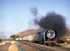 Timeless beauty of Steam Locomotives - SAR South African Railways, Old Steam Train, Old Trains, Those Were The Days, Steam Engine, Steam Locomotive, Train Tracks, Timeless Beauty, Big Boys