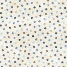 """100/% coton rouge 1//4 /""""White Polka Dot Spot tissu P mtr"""