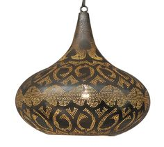 "Modern Moroccan Style Lighting $265, in Silver, Gold and Black. Measures: 16"" wide and 18"" tall"