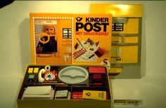 "Kinderpost. Childrens Postal office "" set up"" I loved playing post office"