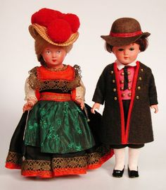 "German Traditional Costume (on 20"" Dolls!) We had dolls like this"