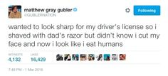 When he proved that effort is overrated. | Community Post: 24 Times Matthew Gray Gubler's Twitter Was A Treasure To Mankind