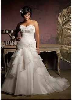 2016 DARIUS plus size wedding gowns / ruffle by DariusDesigns, $930.00