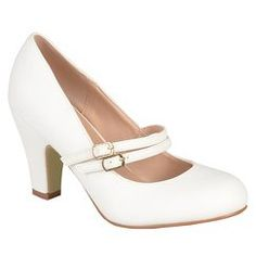 Journee Collection Women's Windy Double Strap Pumps - White