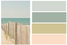 Just developed this color pallet inspired by Myrtle Beach, SC... loving these for a beach living room