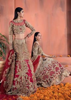 Shiza Hassan Bridal Collection 2019 Online features Pakistani Bridal & Wedding Dresses adorned with Embroidery, Zardozi, Tilla, Gold and Silver Thread Work. Pakistani Bridal Lehenga, Pakistani Dresses, Pakistani Couture, Pakistani Suits, Sabyasachi, Bridal Outfits, Bridal Wedding Dresses, Pakistan Bridal, Walima Dress