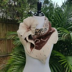 Hey, I found this really awesome Etsy listing at https://www.etsy.com/listing/260065365/nuno-felted-scarf-in-black-brown-and