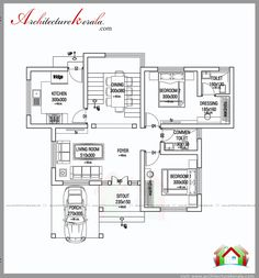 1000 square feet house plan and elevation, two bedroom house plan for small family, for budget construction cost One Bedroom House Plans, 2bhk House Plan, 2 Bed House, House Plans Mansion, Model House Plan, Dream House Plans, House Floor Plans, Small Modern House Plans, Beautiful House Plans
