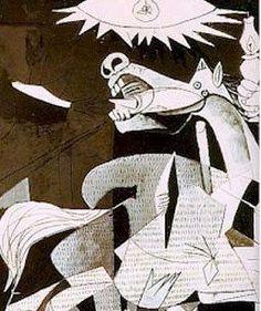Pablo Picasso - Guernica détails ✏✏✏✏✏✏✏✏✏✏✏✏✏✏✏✏  ARTS ET PEINTURES - ARTS AND PAINTINGS  ☞ https://fr.pinterest.com/JeanfbJf/pin-peintres-painters-index/ ══════════════════════  Gᴀʙʏ﹣Fᴇ́ᴇʀɪᴇ BIJOUX  ☞ https://fr.pinterest.com/JeanfbJf/pin-index-bijoux-de-gaby-f%C3%A9erie-par-barbier-j-f/ ✏✏✏✏✏✏✏✏✏✏✏✏✏✏✏✏