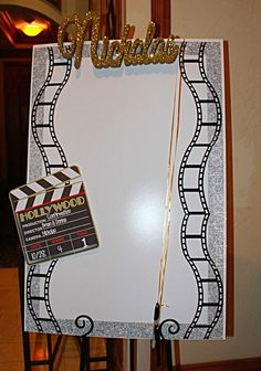Hollywood Themed Sign in Board Hollywood Sweet 16, Hollywood Theme, Quinceanera Planning, Quinceanera Party, Sweet 16 Centerpieces, Sweet 16 Themes, Prom Themes, Birthday Party Celebration, Birthday Parties