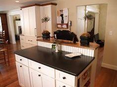 Red Oak edge grain custom wood countertop.