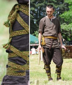 Viking clothing by ~weavedmagic on https://alehorn.com Good use of woven or card loom work
