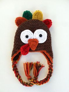 Thanksgiving hats crafts | Crochet Thanksgiving Turkey Hat
