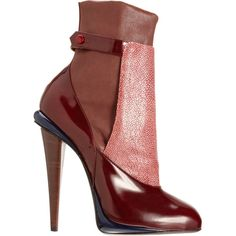 Fendi Shagreen Panel Ankle Boot ($1,395) ❤ liked on Polyvore