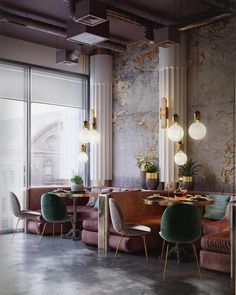 Awesome design for a restaurant by #maximtsiabus; via @behance #restaurantdesign