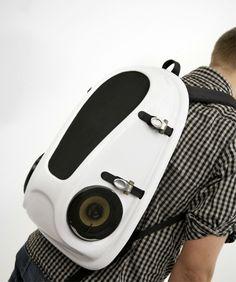 Boombox Backpack by Joonas Saaranen, wearable speakers!