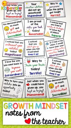 These Growth Mindset Notes from the Teacher are perfect for any 2nd-6th grade classroom! Are you teaching your students about growth mindset and fixed mindset? Create a culture of success, perseverance, and motivation with these growth mindset teacher notes. This product also includes a list of teacher suggestions for product use.
