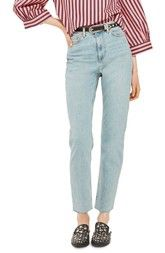 Topshop Vintage Bleach Raw Hem Straight Leg Jeans available at #Nordstrom