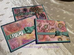 #Worldcardmakingday Stampin' Up! Paisleys & Posies. Embossed resist water colour using rich razzleberry,  night of navy, Cajun craze, mint macaron and delightful Dijon. Copper embossed on shimmery white paper.