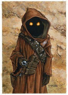 Star Wars Art Illustration | ... Art for Star Wars Kids Magazine from Trevas Illustration on Storenvy