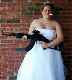Angry bride. Whatever you do, don't turn into this!  (Saw pic and thought it was hilarious.)